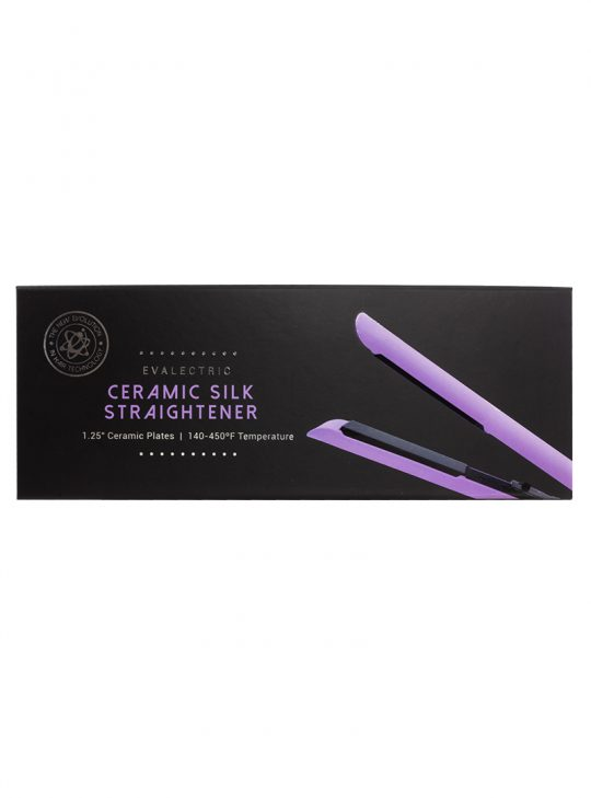 Ceramic Silk Straightener Lavender in its case