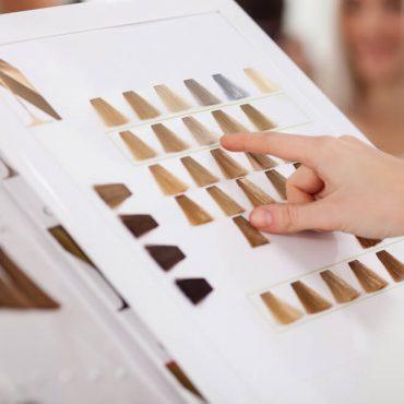 Choosing hair dye color