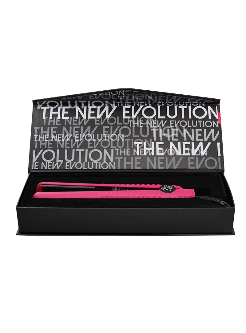 Evalectric Clic Styler 1 25 Crazy Pink Flat Iron Box Open