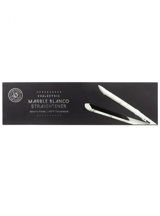 Marble Blanco Straightener in its box