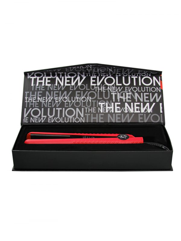 Evalectric Classic Styler Christmas Red Hair Straightener Box Open