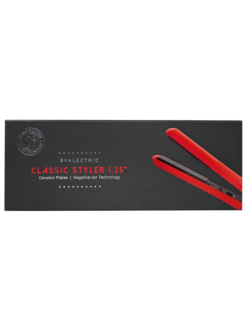 Evalectric Classic Styler Christmas Red Hair Straightener Box