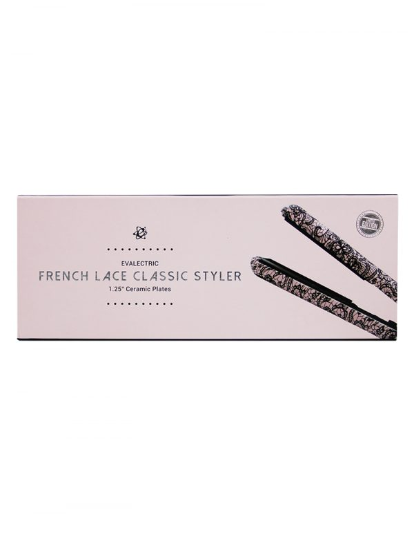 Evalectric Pink Lace Print Hair Straightener