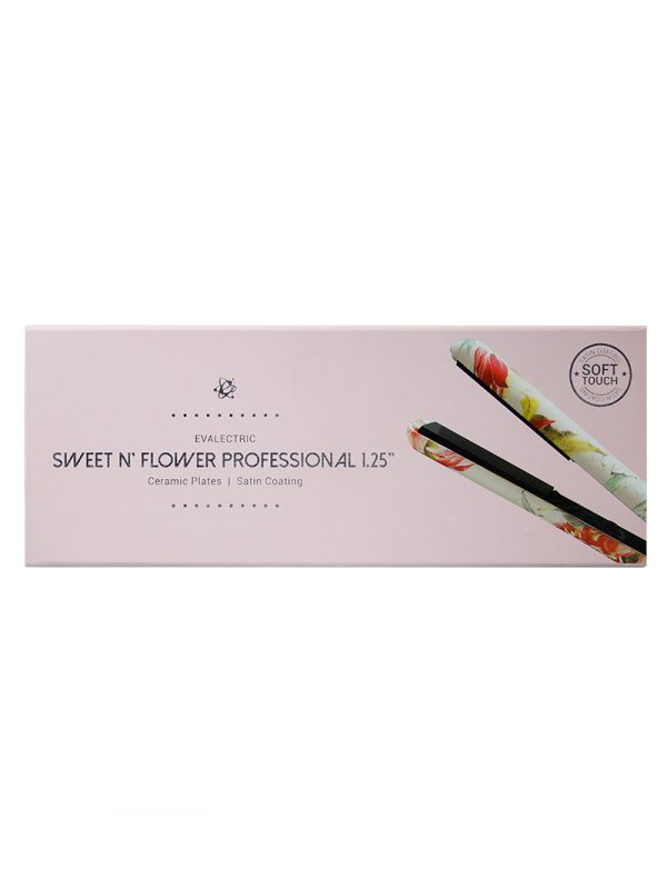 Evalectric Sweet n flower Print Hair Straightener