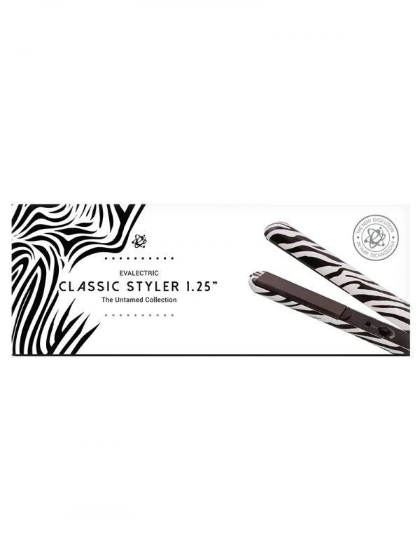 Evalectric Zebra hair straightener box